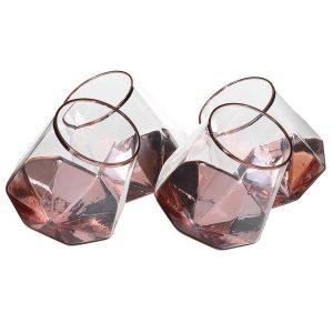 Set of 4 Tipsy Prism Tumbler Glasses