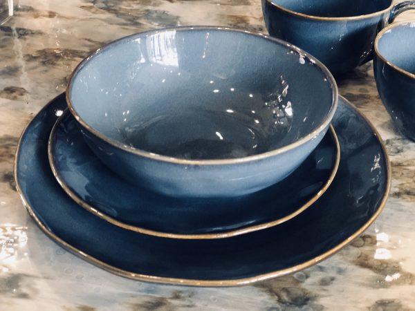True Blue 4 Stoneware Bowls