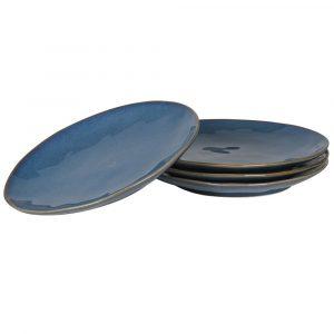 True Blue 4 Stoneware Dinner Plates