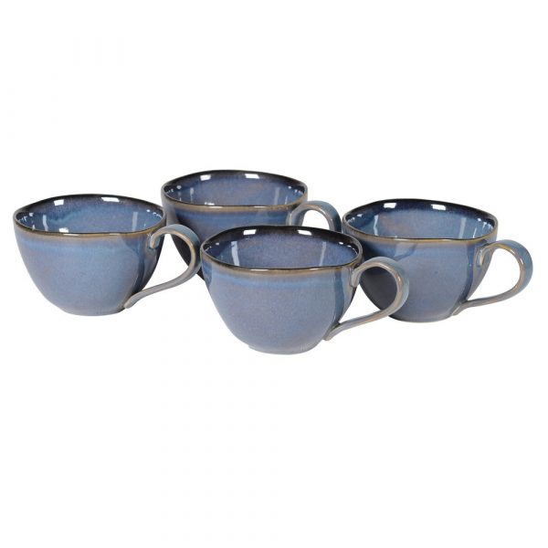 True Blue 4 Stoneware Mugs