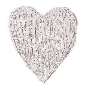 White New England Willow Heart