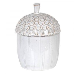 Ceramic Acorn Jar Jars Avoir Interiors