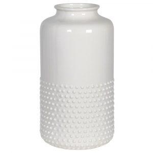 Cream Ceramic Dotty Vase Vases Avoir Interiors