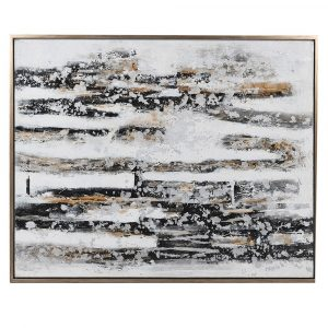 Abstract Gold Black and White Painting Abstract Paintings Avoir Interiors 1