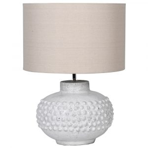 Bobble Lamp With Linen Shade Lamps Avoir Interiors 1