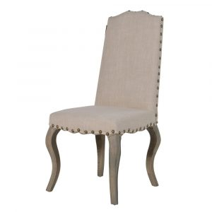 Bordeaux Cream Curved Leg DIning Chair Dining Chairs Avoir Interiors