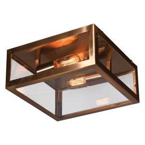 Brass Square Ceiling Light Ceiling Lights Avoir Interiors 1