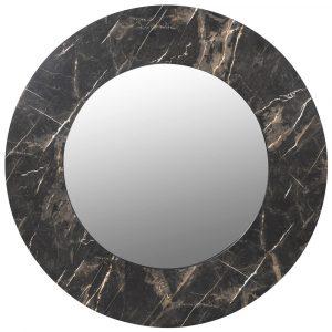 Faux Black Marble Mirror Mirrors Avoir Interiors 1
