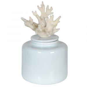 Faux Coral Lidded Jar Jars Avoir Interiors