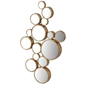 Gold Fifteen Circles Mirror Mirrors Avoir Interiors
