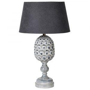Grey Acorn Lamp With Shade Lamps Avoir Interiors