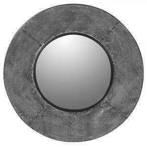 Grey Textured Wall Mirror Mirrors Avoir Interiors