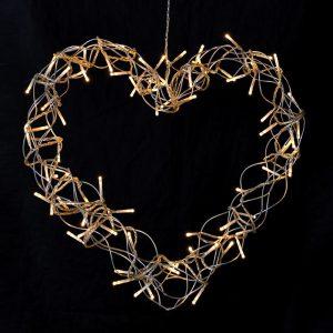 Heart LED Wreath LED Hearts Avoir Interiors