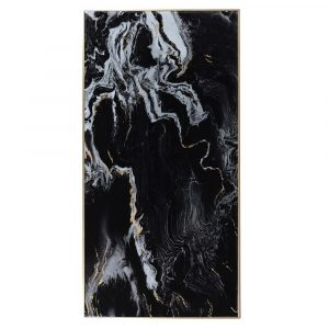 Large Black Marble Effect Print Marble Pictures Avoir Interiors