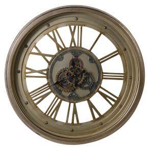 Large Moving Cogs Stud Clock Wall Clocks Avoir Interiors