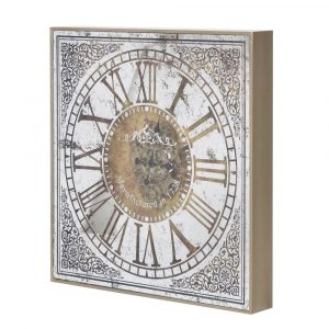 Large Square Mirrored Wall Clock With Workings Wall Clocks Avoir Interiors