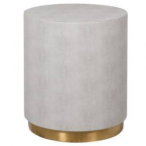 Mayfair Ivory Faux Shagreen Side Tables Side Tables Avoir Interiors