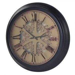 Moving Gears Roman Numeral Wall Clock Wall Clocks Avoir Interiors