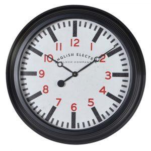 Round Black White Wall Clock Wall Clocks Avoir Interiors