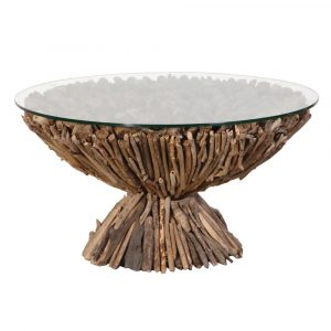 Round Driftwood Coffee Table Coffee Tables Avoir Interiors