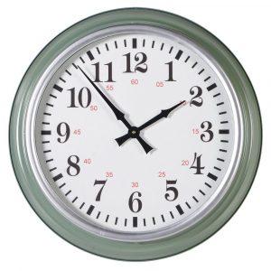 Round Green Wall Clock Wall Clocks Avoir Interiors