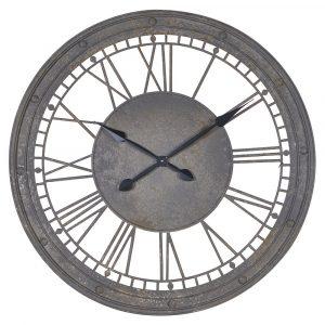 Round Metal Roman Numerals Wall Clock Wall Clocks Avoir Interiors