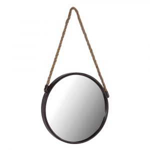 Round Mirror With Rope Mirrors Avoir Interiors