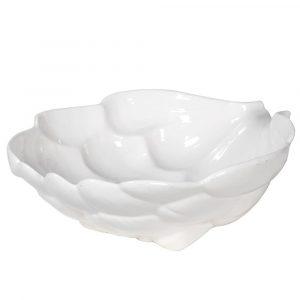 White Ceramic Artichoke Dish Dishes Avoir Interiors