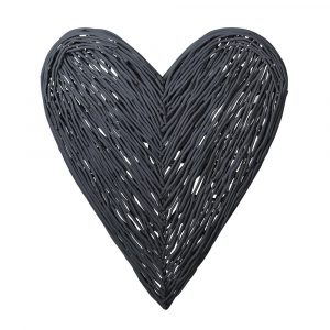 Woodstock Dark Grey Willow Wall Heart Wall Hearts Avoir Interiors