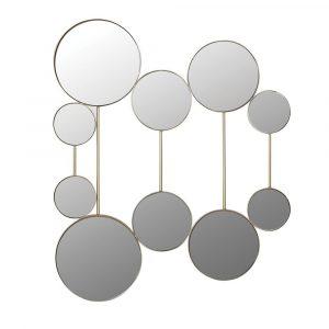 10 Gold Circles Wall Mirror Mirrors Avoir Interiors