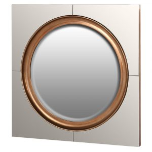 Amy Mirror WIth Antique Mirrored Glass Surround Mirrors Avoir Interiors
