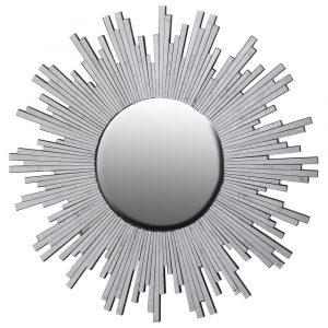 Antiqued Silver Glass Starburst Mirror Mirrors Avoir Interiors