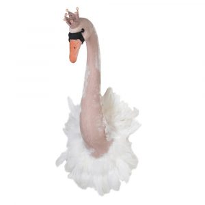 Cissy Wall Mounted Swan Pink Swans Avoir Interiors