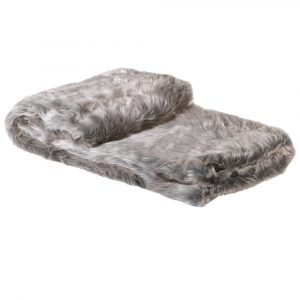 Silver Fox Faux Fur Throw Throws Avoir Interiors